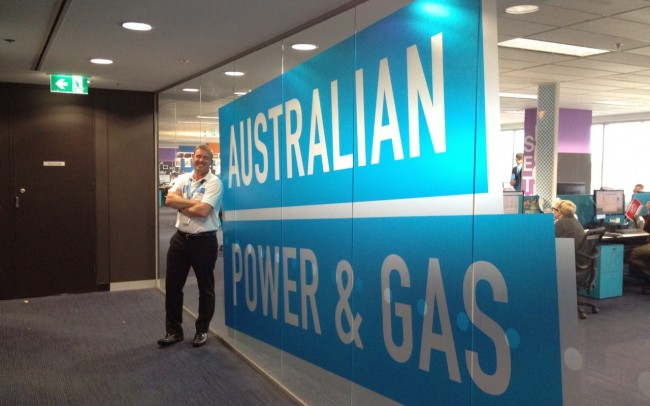Australian Power and Gas environmental branding
