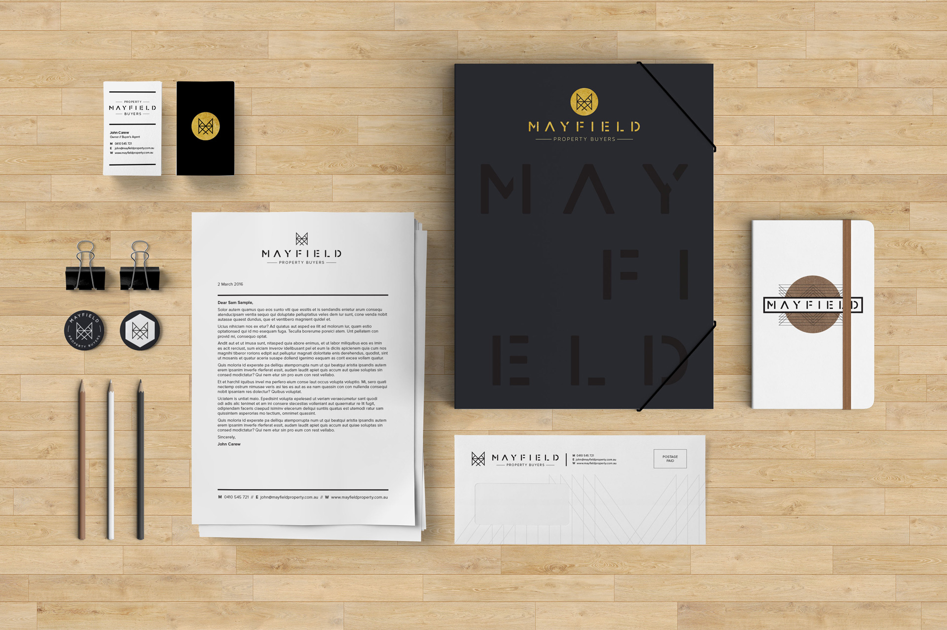 Mayfield Property Buyers Brand Stationery Suite