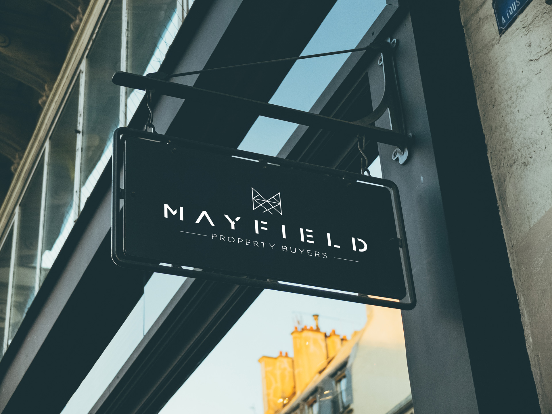 Mayfield Property Buyers outdoor wayfinding signage