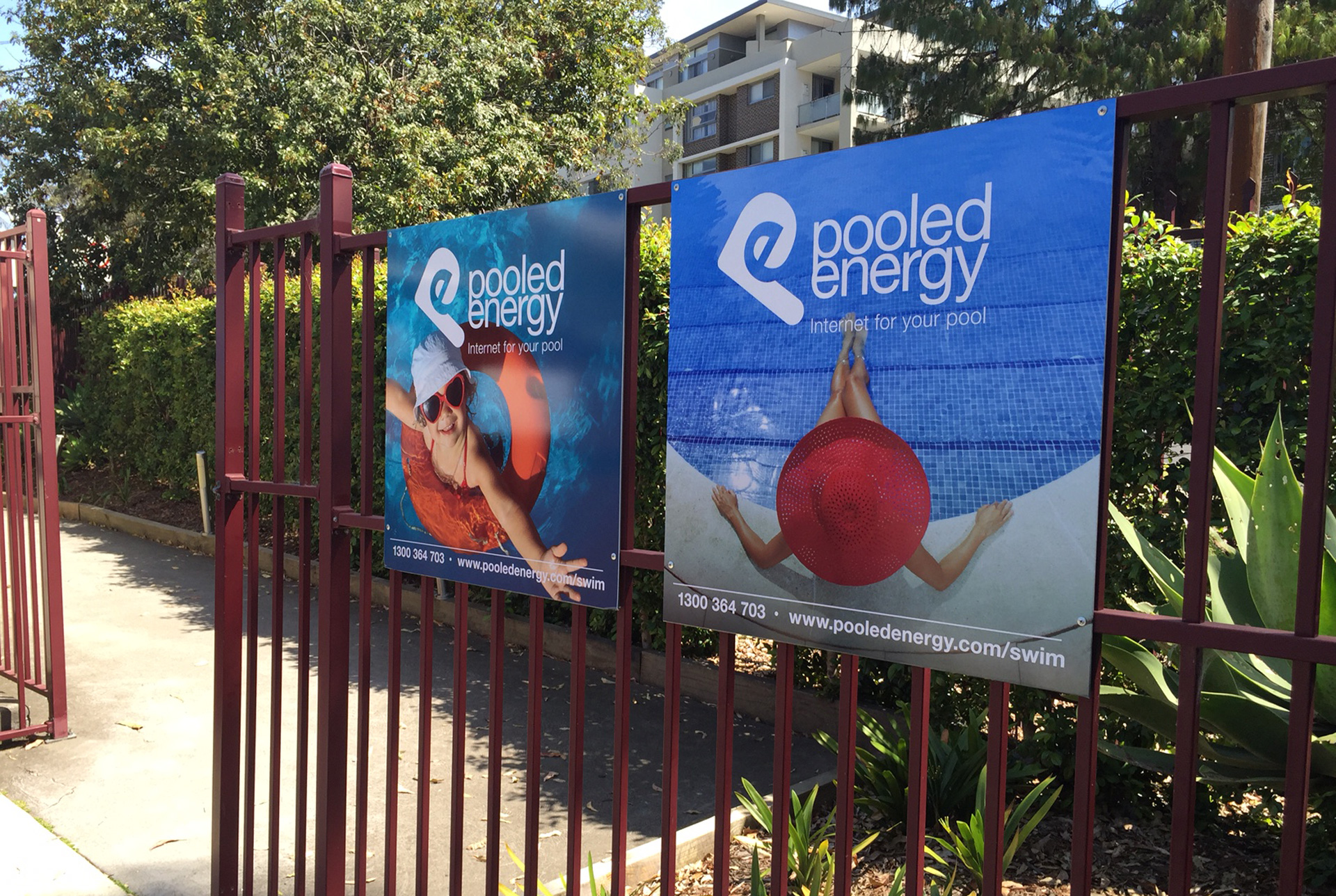 Pooled Energy Outdoor Promotional Signage