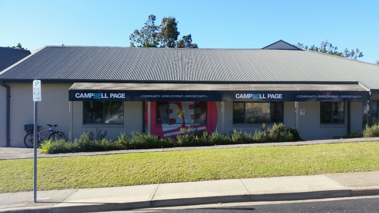 Campbell Page external site signage