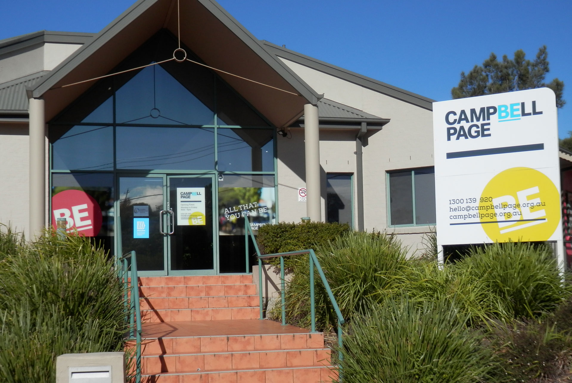 Campbell Page Batemans Bay external site signage