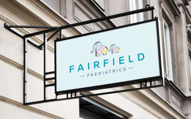 Signage design for Fairfield Paediatrics brand identity
